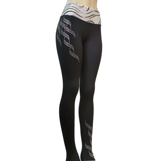 9071b70e19aeb Victoria's Challenge Hologram Zebra Triple Twist Polyester Yoga pants 39YL